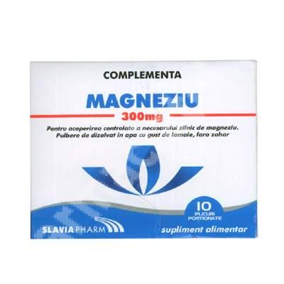 Magneziu 300mg, 10 plicuri, Slavia Pharm