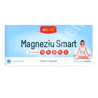 Magneziu Smart Bioland, 30 comprimate, Biofarm