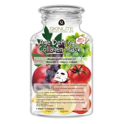 Masca anti-aging cu colagen, Vitamina E si extract de ceai verde, 18 ml, Skinlite