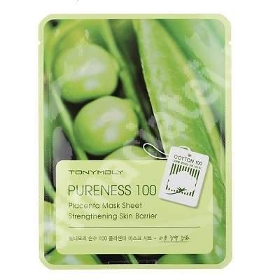 Masca anti-aging cu placenta PURENESS 100, 21 ml, TONYMOLY
