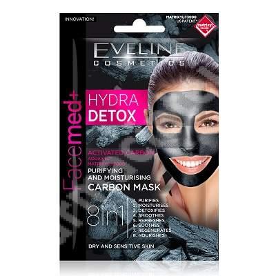 Masca de fata 8 in 1 Facemed Hydra Detox, 2 x 5 ml, Eveline Cosmetics