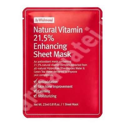 Masca de fata cu Vitamina C 21.5% Wishtrend, 23 ml, Wishcompany Inc.