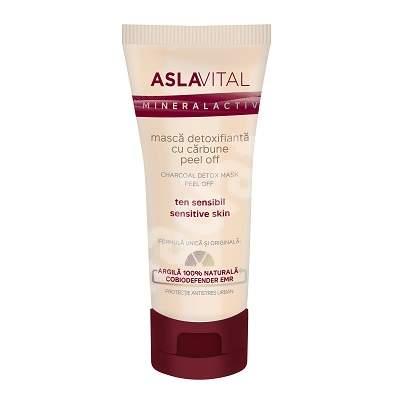 Masca detoxifianta cu carbune AslaVital, 100 ml, Farmec