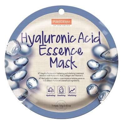 Masca din celuloza naturala pentru hidratare, netezire si revitalizare Hyaluronic Acid Essence, 18 g, Purederm