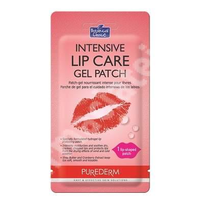 Masca din hidrogel pentru ingrijirea intensiva a buzelor Botanical Choice, 2.5 g, Purederm
