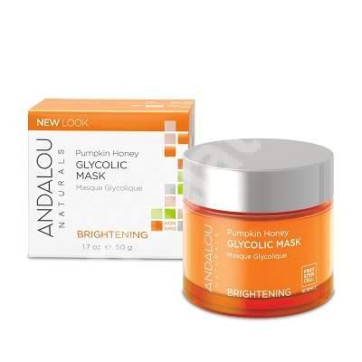 Mască enzimatică cu acțiune exfoliantă pentru tenul normal sau mixt Brightening Andalou, 50 ml, Secom