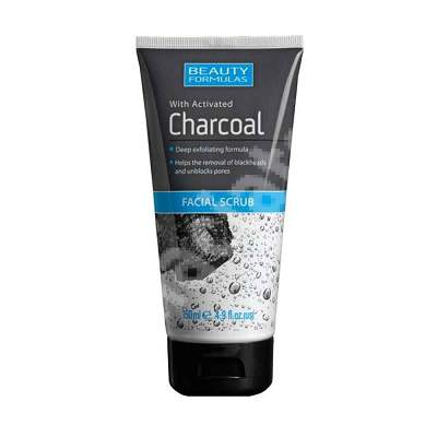 Masca exfolianta cu carbune pentru fata Beauty Formulas, 150 ml, Drammock