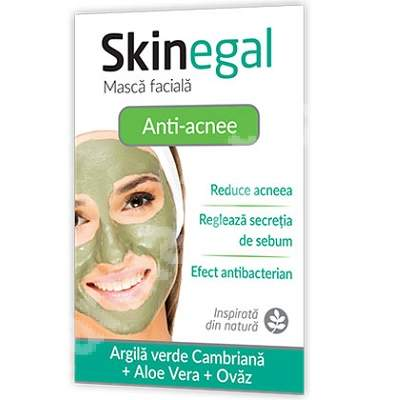 Masca facială anti-acnee Skinegal, 20 g, Zdrovit