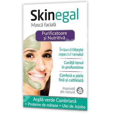 Masca facială purificatoare și nutritivă Skinegal, 20 g, Zdrovit