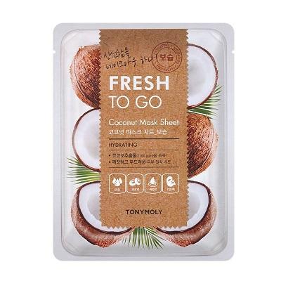Masca hidratanta cu Nuca de cocos Fresh To Go, 25 g, TonyMoly