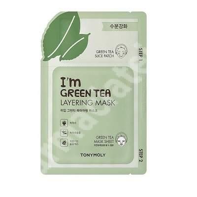Masca in 2 pasi pentru calmare cu ceai verde, 23 g, TONYMOLY