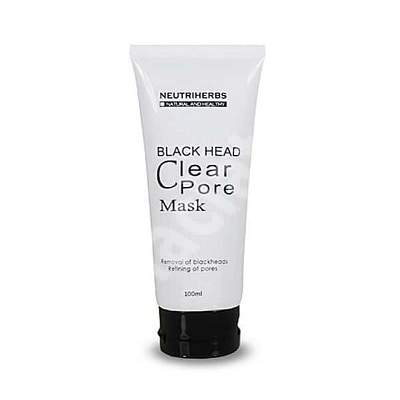 Masca naturala pentru indepartarea punctelor negre Black Mask, 100 ml, Neutriherbs