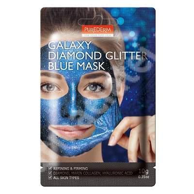 Masca peel-off Galaxy Diamond Glitter Blue, 10 ml, Purederm