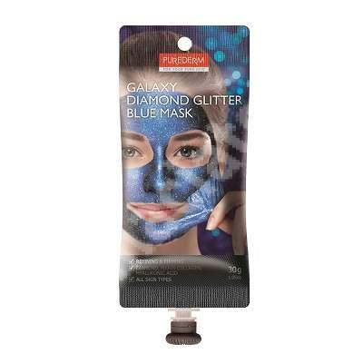 Masca peel-off Galaxy Diamond Glitter Blue, 30 ml, Purederm