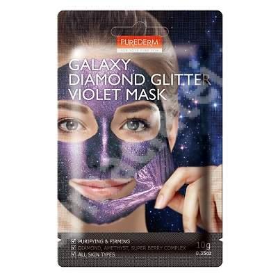 Masca peel-off Galaxy Diamond Glitter Violet, 10 ml, Purederm