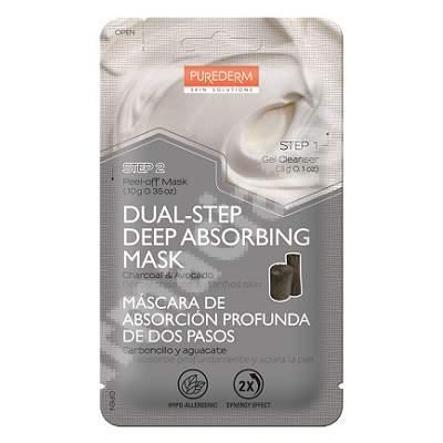 Masca peel-off in 2 pasi pentru curatare si purifiere Deep Absorbing, 10 + 3 g, Purederm