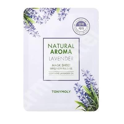 Masca pentru elasticitate cu lavanda Natural Aroma, 21 g, TONYMOLY