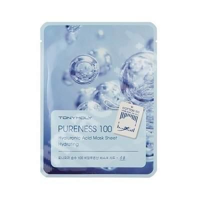 Masca pentru hidratare cu acid hialuronic PURENESS 100, 21 ml, TONYMOLY