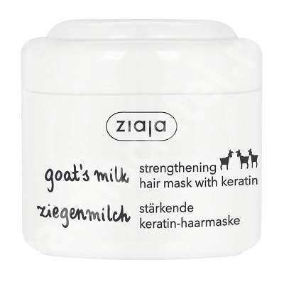 Masca pentru intarirea firului de par cu lapte de capra si keratina, 200 ml, Ziaja