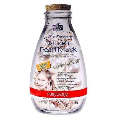 Masca pentru luminozitate si reintinerire cu Vitamina E Botanical Choice, 15 g, Purederm