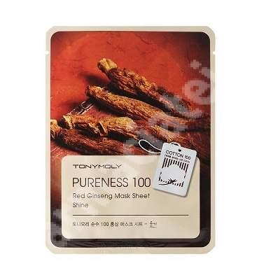 Masca pentru stralucire cu ginseng rosu PURENESS 100, 21 ml, TONYMOLY