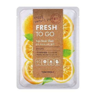 Masca pentru stralucire cu Yuja Fresh To Go, 25 g, TonyMoly