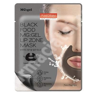 Masca tip MG:gel pentru buze Black Food, 10 g, Purederm