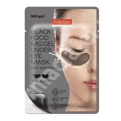 Masca tip MG:gel pentru fermitate si luminozitate in zona de sub ochi Black Food, 7 g, Purederm