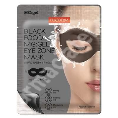 Masca tip MG:gel pentru fermitate si luminozitate in zona ochilor Black Food, 12 g, Purederm