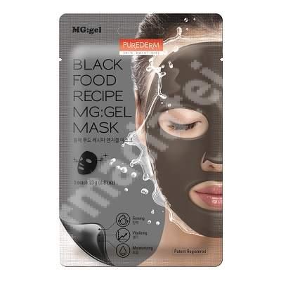 Masca tip MG:gel pentru reintinerirea pielii Black Food, 23 g, Purederm