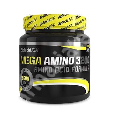 Mega Amino 3200, 6600 mg, 300 comprimate, Biotech USA