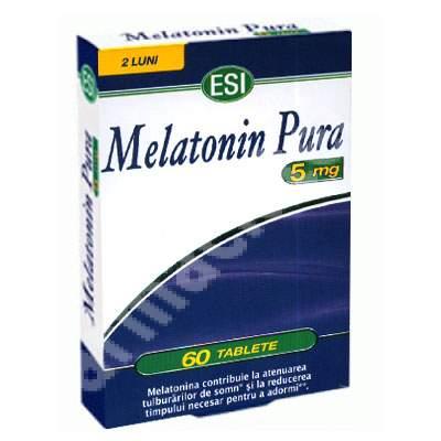 Melatonina Pura, 5 mg, 60 tablete, EsiSpa