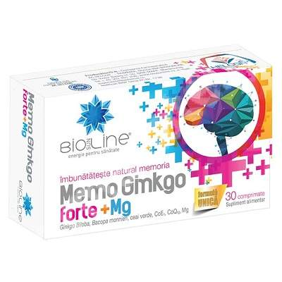 Memo Ginkgo Forte, 30 comprimate, Helcor