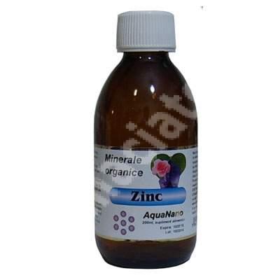 Minerale organice Zinc AquaNano, 200 ml, Sc Aghoras Invent