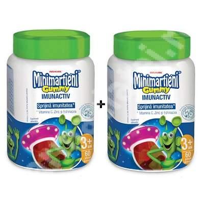 Minimarțieni jeleuri cu Echinacea Gummy, 60 + 60 jeleuri, Walmark (50% reducere la al doilea produs)