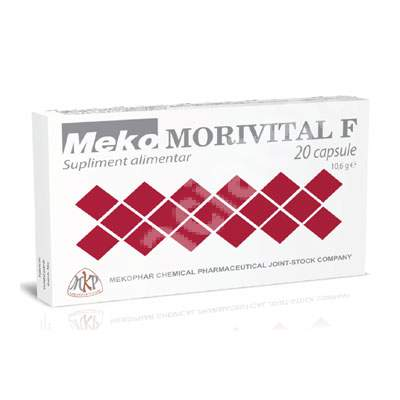 Morivital F, 20 casule, Mekophar Chemical