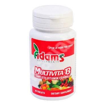 Multivita13, 30 tablete, Adams Vision