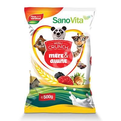 Musli Crunch alune si mere, 500 g, Sanovita
