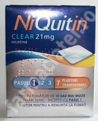 Niquitin Clear 21 mg, 7 plasture transdermic, Gsk
