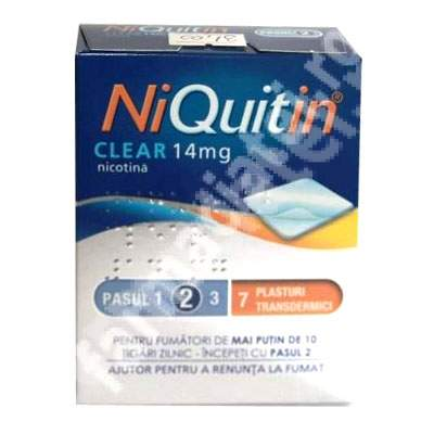 Niquitin CQ 14 mg, 7 plasturi transdermic, Gsk