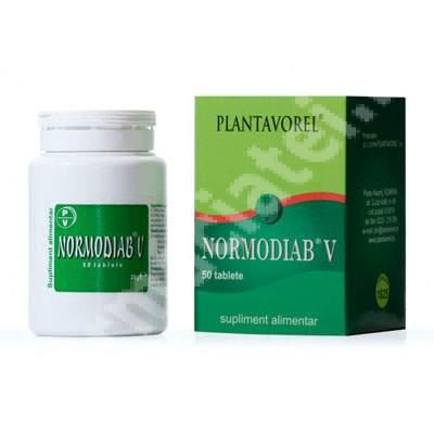 Normodiab V, 50 tablete, Plantavorel