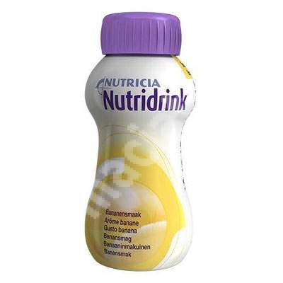 Nutridrink cu aroma de banane, 200 ml, Nutricia