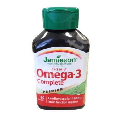 Omega-3 Complet Premium, 80 capsule, Jamieson