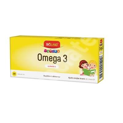 Omega 3  cu Lecotina Bioland Junior, 30 capsule, Biofarm