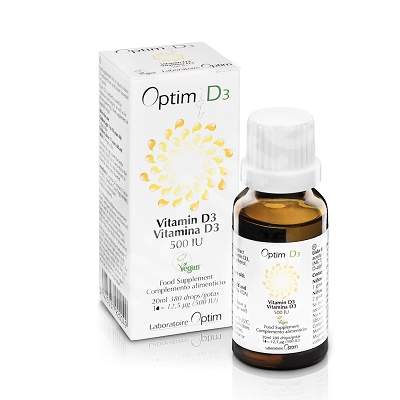 Optim D3 500 UI picaturi uleioase , 20ml, Laboratoire Optim