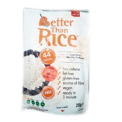 Orez din Konjac fara clatire Better Than Rice Better Than Foods, 250 g, No Sugar Shop