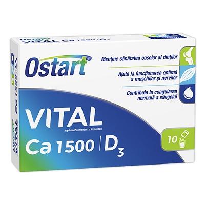 Ostart Vital Ca 1500 + D3, 10 plicuri, Fiterman