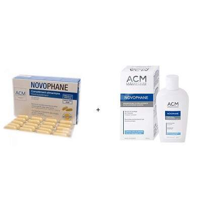 Pachet ACM Novophane pentru unghii si par 60 capsule + Sampon nutritiv 200 ml