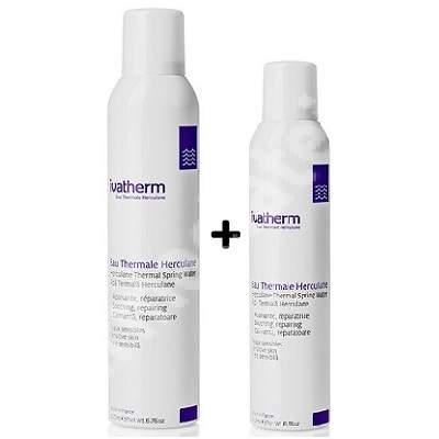 Pachet Apa termala Herculane spray, 300 + 200 ml, Ivatherm