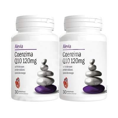 Pachet Coenzima Q10 120mg,  30 comprimate (1+1), Alevia